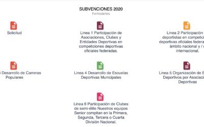 Convocatoria subvenciones 2020 IMDECO
